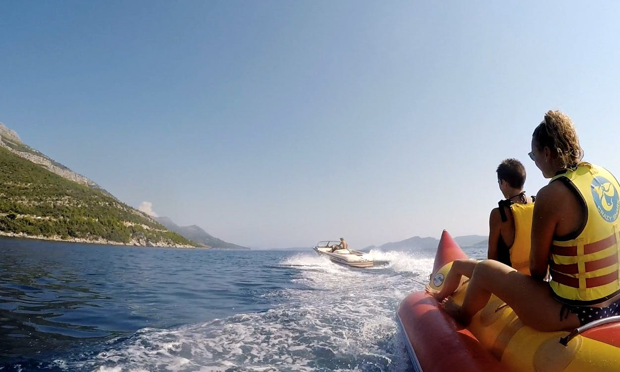 Enjoy Banana Boat Rides in Majkovi, Croatia