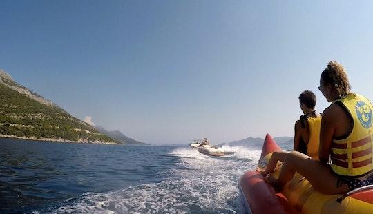 Enjoy Banana Boat Rides In Majkovi, Croatia