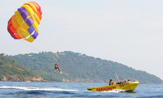 Enjoy Parasailing In Ramatuelle, France