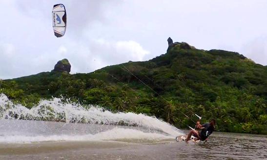 Kiteboarding In Îles Du Vent, French Polynesia