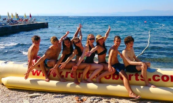 Blast on a wild Banana Boat Ride in Brac, Croatia