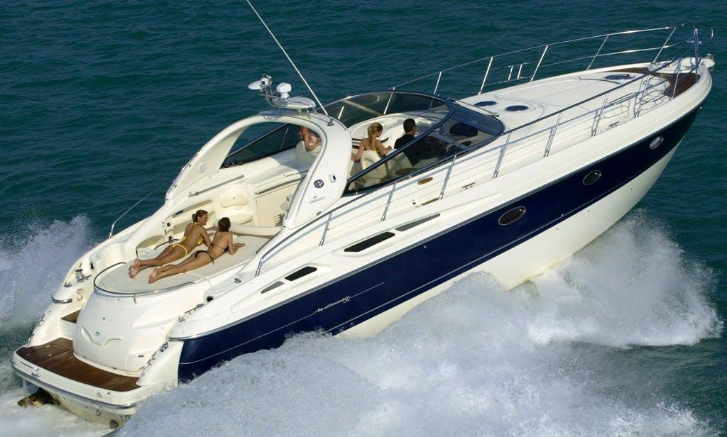 Charter 50' Cranchi Med Power Mega Yacht in Milazzo, Sicilia
