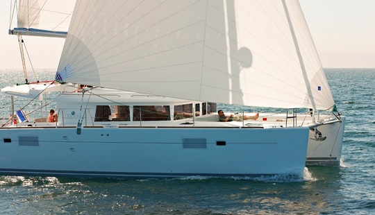 Charter 46' Wind Finder Lagoon Cruising Catamaran At Sint Maarten, Caribbean Islands