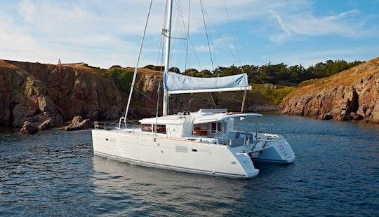 Charter 46' Wind Guru Lagoon Cruising Catamaran At Sint Maarten, Caribbean Islands