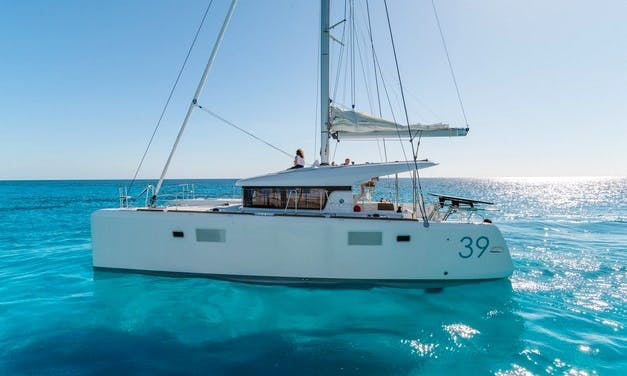 Charter 39' Cathetine Lagoon Cruising Catamaran at Kornati Islands, Croatia