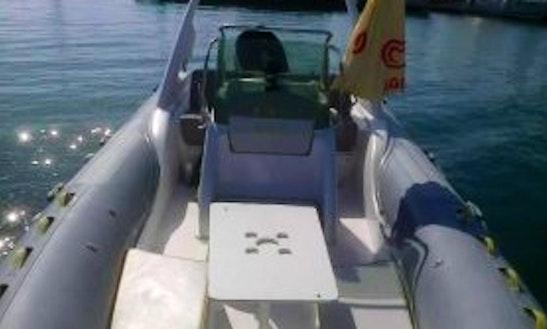 Rent 22' Sacs Rigid Inflatable Boat In Cagliari, Italy