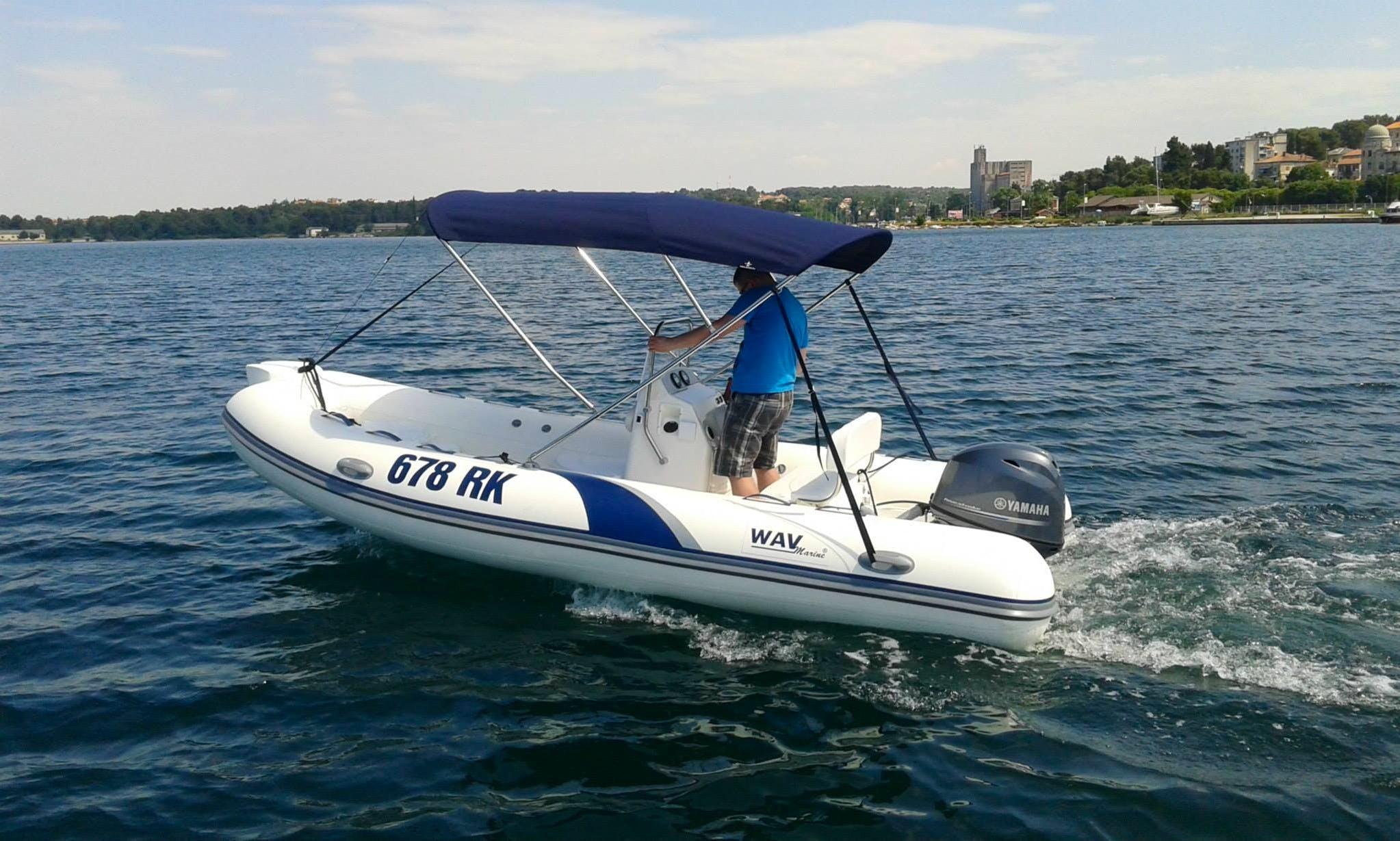 Rent 16' Rigid Inflatable Boat in Rijeka, Croatia