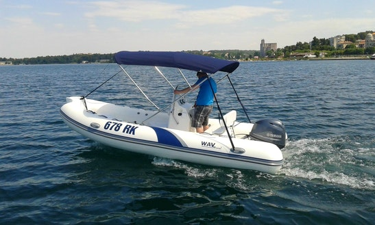 Rent 16' Rigid Inflatable Boat In Rijeka, Croatia