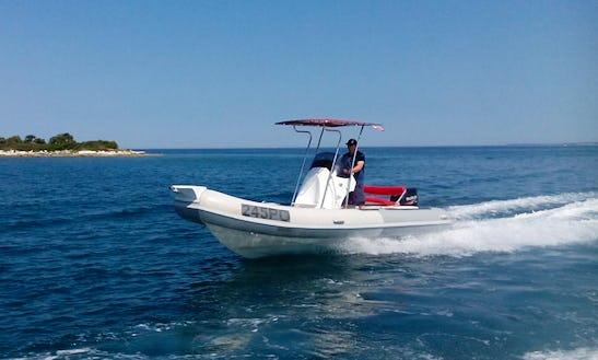 Rent 20' Rm 599 Rigid Inflatable Boat In Vrsar, Croatia