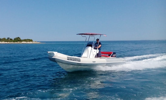 Rent 20' Rm 599 Rigid Inflatable Boat In Vrsar, Croatia