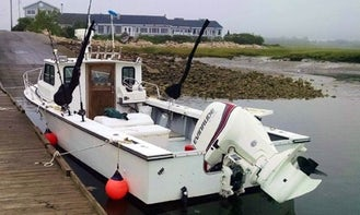 "Wells Harbor Fishing Charter on 25ft ""Andora"" Fishing Boat with Captain Derek"