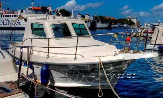 Deck Boat Fishing Charter In Zadar