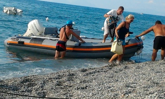Rent 15' Gommoni Rigid Inflatable Boat In Gioiosa Marea, Sicilia