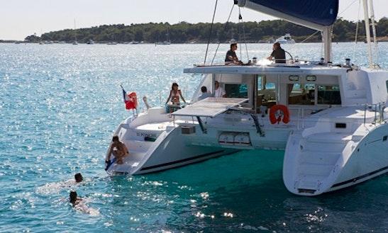 Charter 50' Lagoon Cruising Catamaran In Portiglioni, Italy