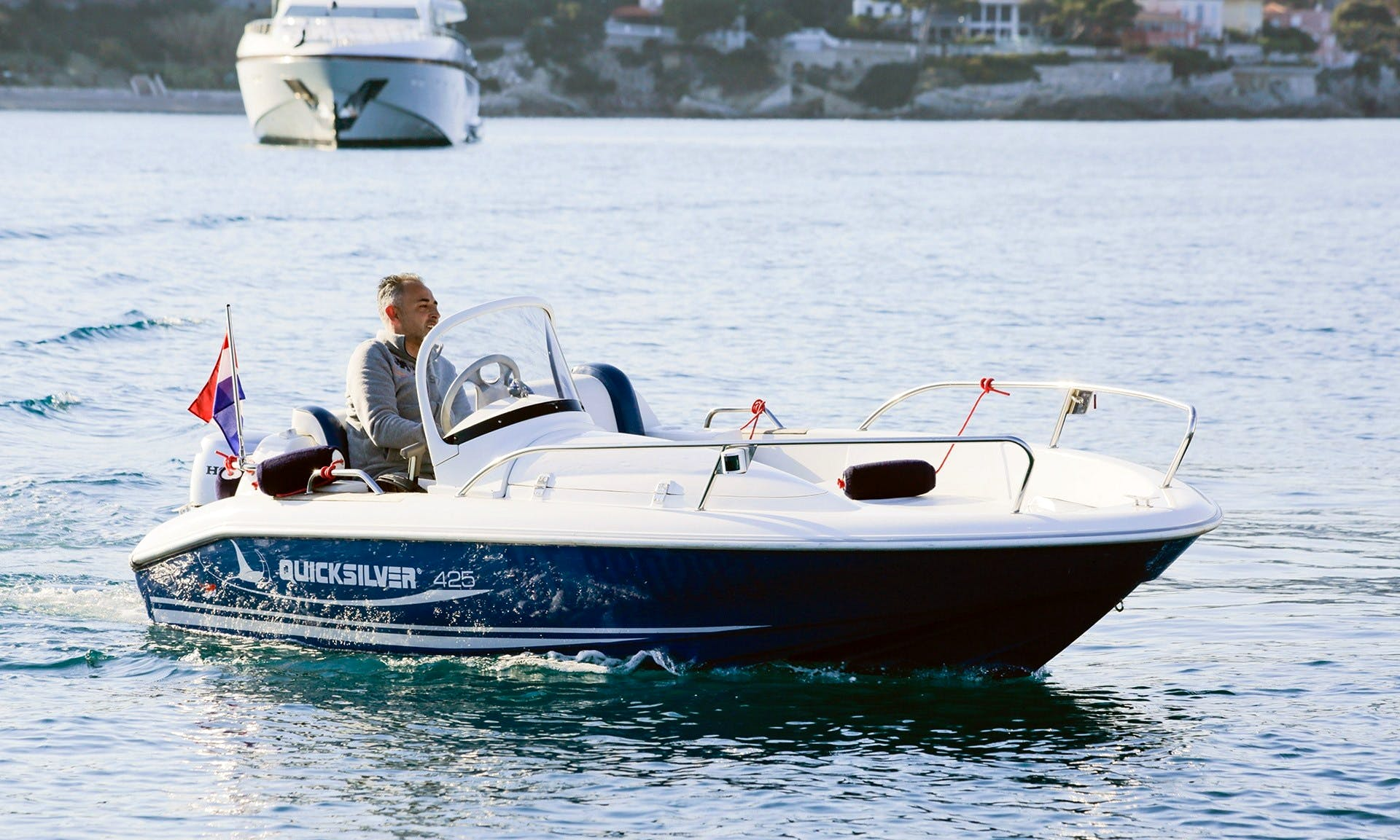 Rent 14' Quicksilver Powerboat in Saint-Jean-Cap-Ferrat, France