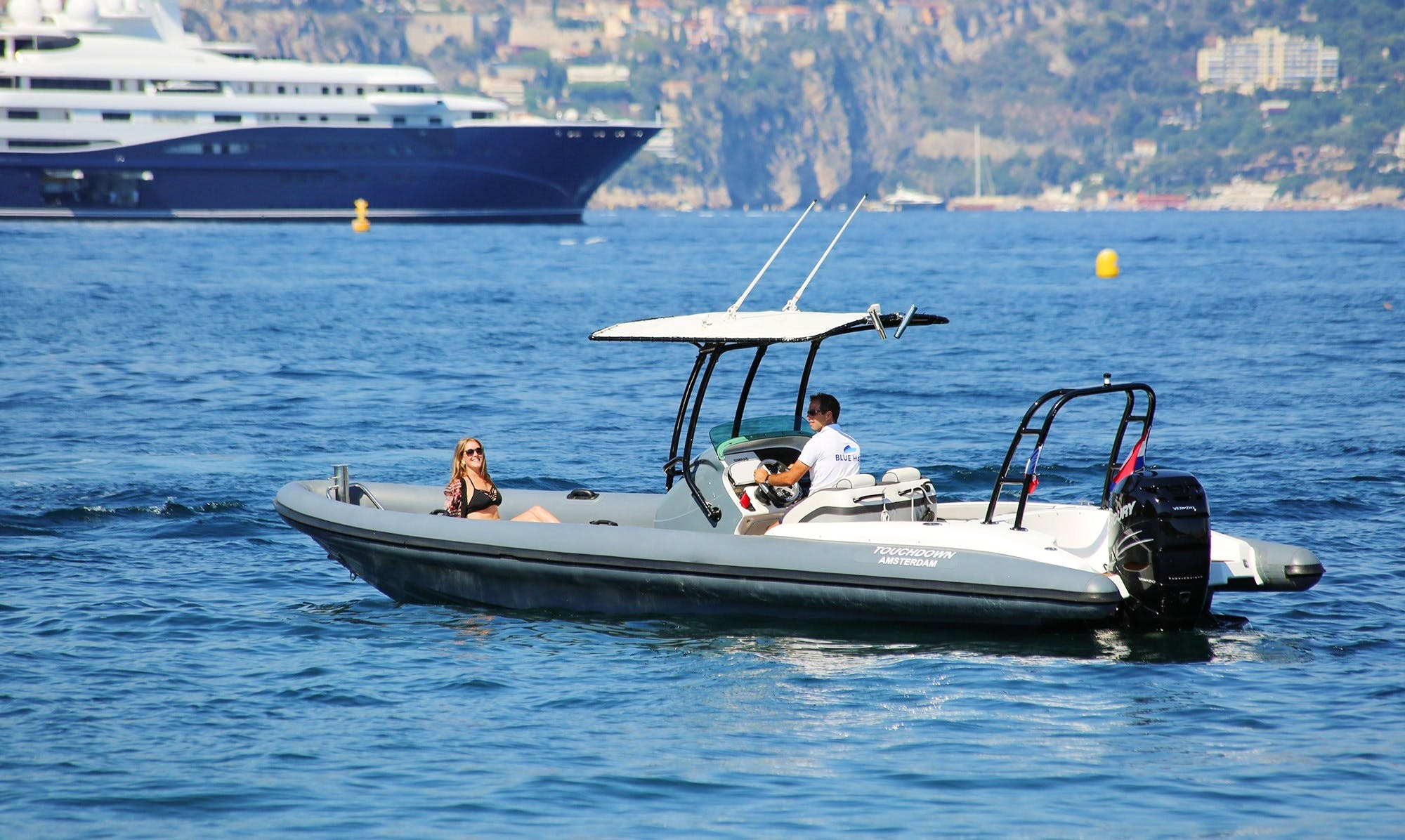 Rent 27' Airship Rigid Inflatable Boat in Saint-Jean-Cap-Ferrat, France