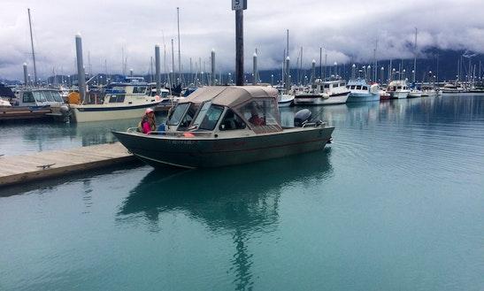 21' Aluminum Runabout Rental In Seward, Alaska
