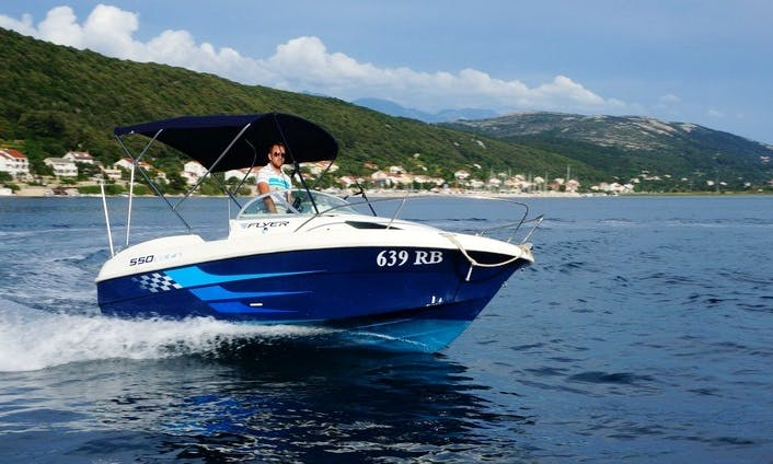 Rent 18' Beneteau Flyer 550 Cuddy Cabin in Supetarska Draga, Croatia