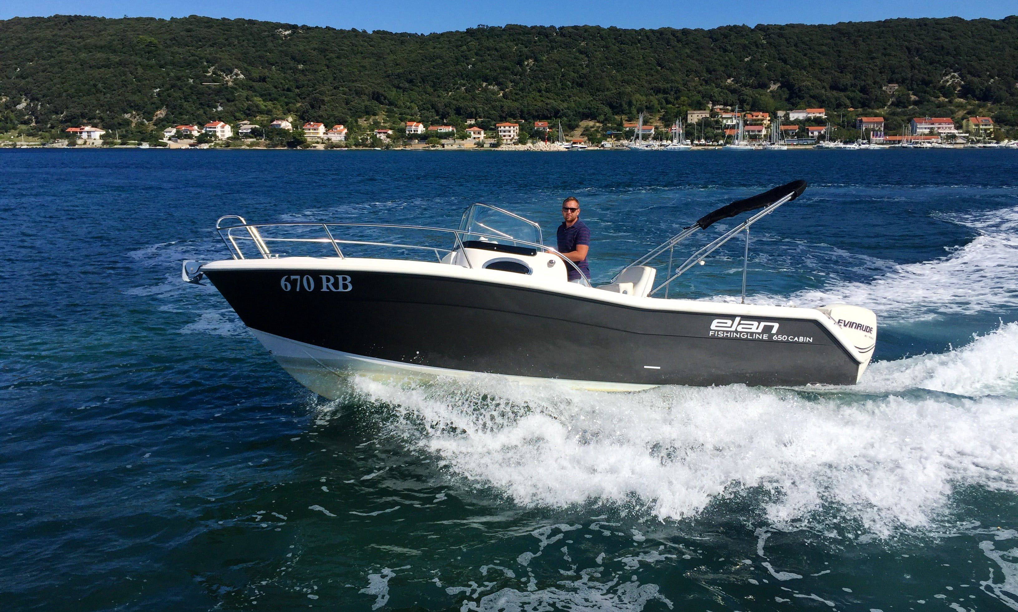 Rent 22' Elan 650 Center Console in Supetarska Draga, Croatia