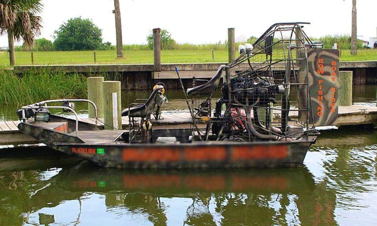 14' GTO AirBoat Tours in Apalachicola Bay