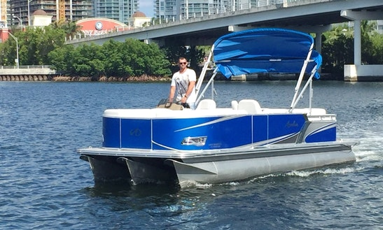 2016 Pontoon Boat 115hp  Engine