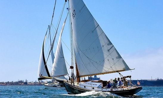 Enjoy 'liberty' Sloop Day Sailing & Private Charter In San Diego