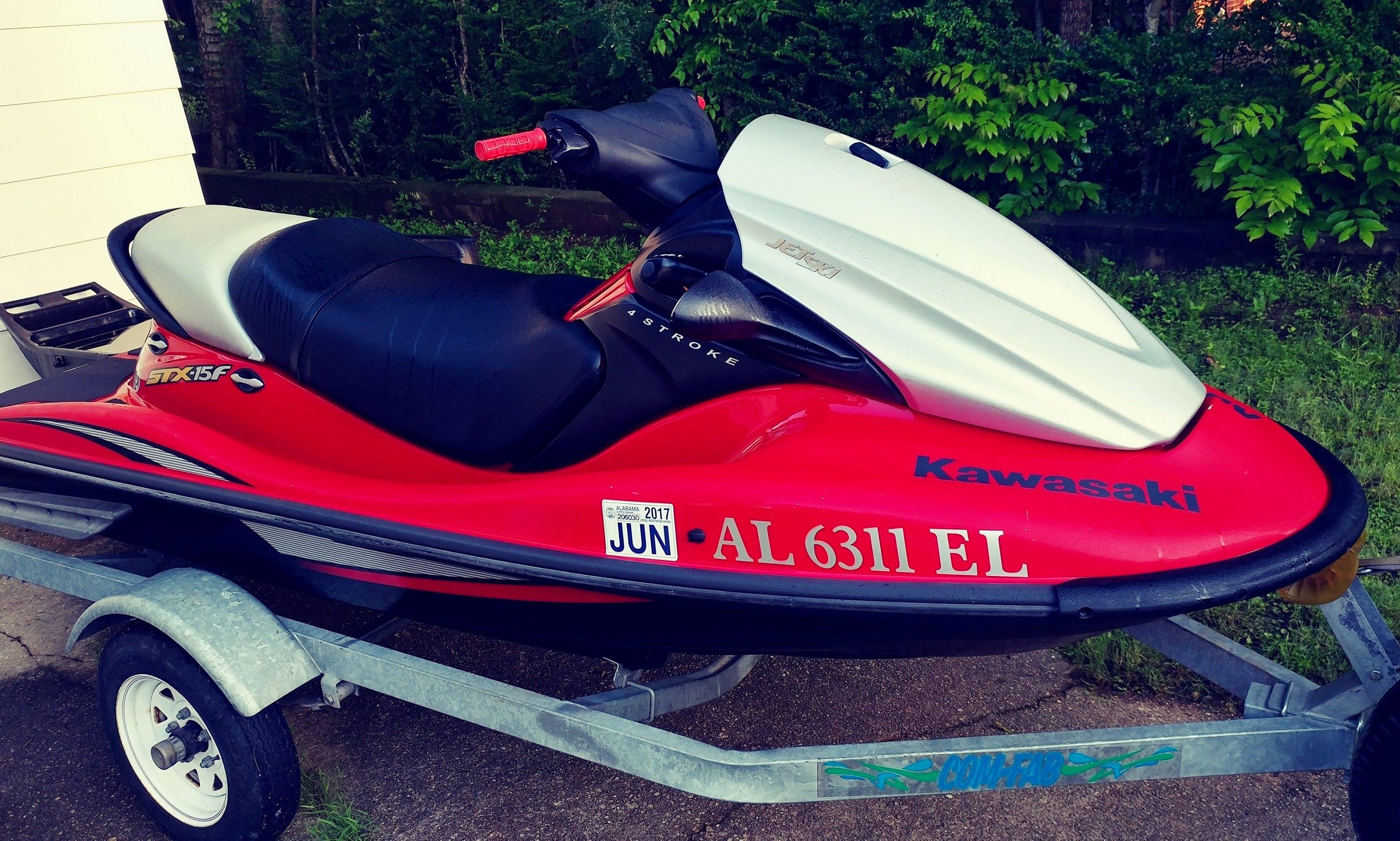 Jet Ski rental on Lake Wedowee or Lake Martin. Kawasaki STX-15F