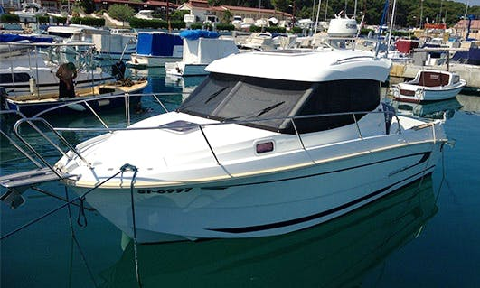 Perfect Motor Yacht for Fishing in Split, Croatia on 24' Antares Gajo