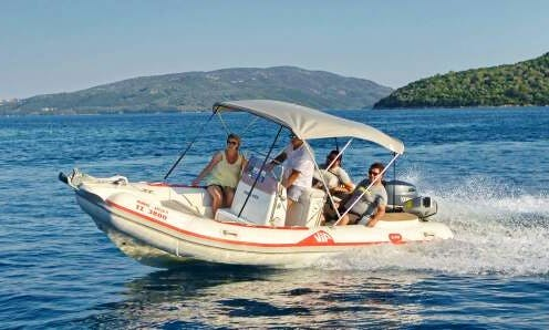 "Rent 18ft ""VIP"" RIB With 100hp 4stroke Yamaha. In Nikiana, Greece"