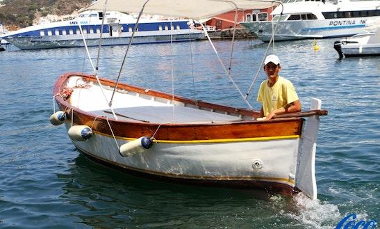 Rent 19' Zintonio Inboard Propulsion In Ponza, Italy
