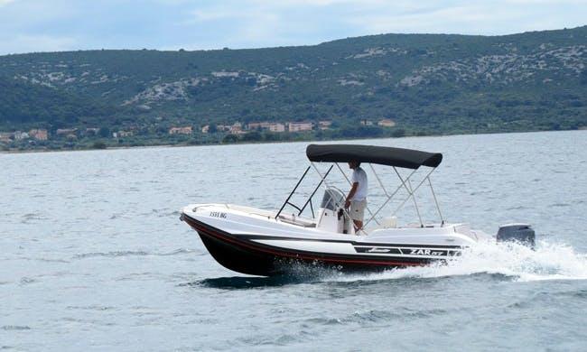 Rib motor boat for rent in Kavala