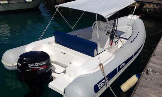 Rent 18' Seapower 3 Rigid Inflatable Boat In Porto Santo Stefano, Italy