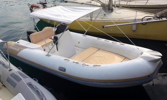 Rent 18' Conarg Rigid Inflatable Boat In Porto Santo Stefano, Italy