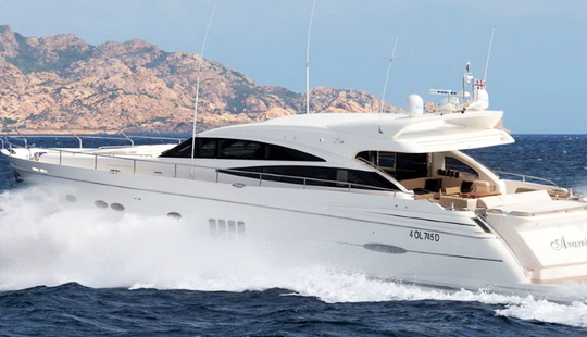 Charter 78' Princess Power Mega Yacht In Porto Cervo, Italy