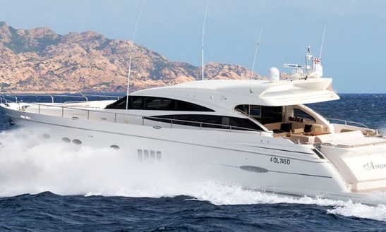 Charter 78' Princess Power Mega Yacht In Porto Cervo, Italy