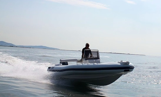 Rent 21' Marlin 630 Dinamic Rigid Inflatable Boat In Paratico, Lombardia