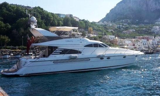 Charter 59' Fairline Squadron Power Mega Yacht In Sorrento,italy