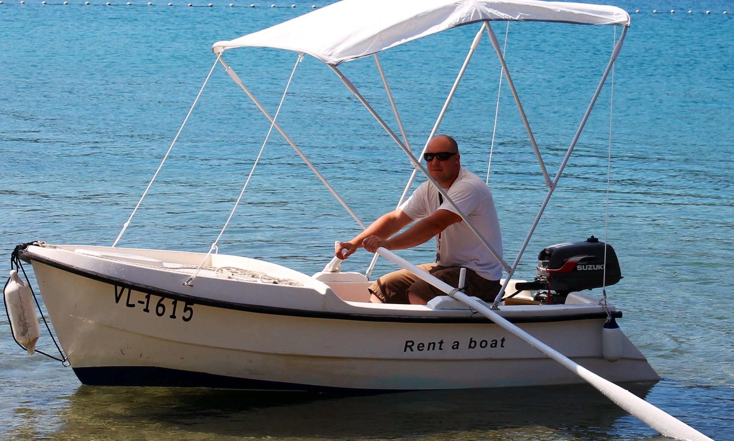 Rent 10' Gof 3 Dinghy in Vela Luka, Croatia