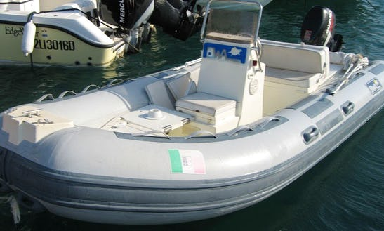 Charter 16' Rigid Inflatable Boat In Porto Santo Stefano, Italy