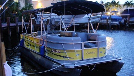 22' Bentley Pontoon Rental In North Miami Beach And Hollywood, Florida
