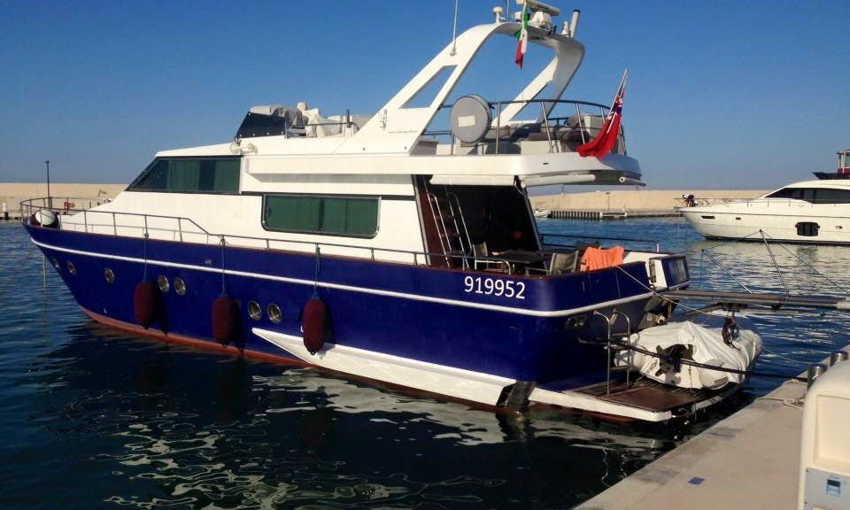 """Captained Charter on """"New Kama"""" Canados 60 Fly Motor Yacht in Monopoli, Italy"""
