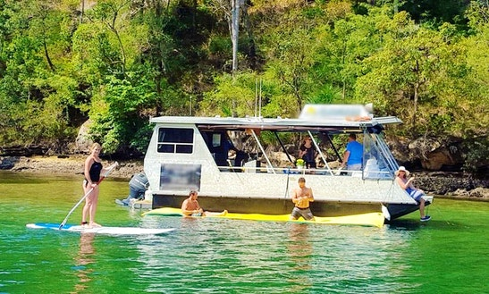 12-seater Pontoon Boat Hire In Ku-ring-gai Chase