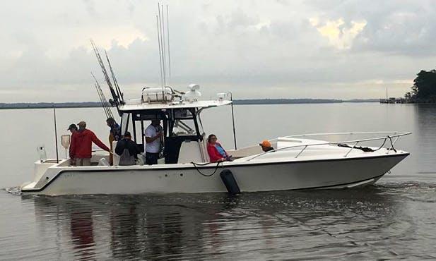 Fishing Charter On 31' Sea Vee Center Console In Savannah, Georgia