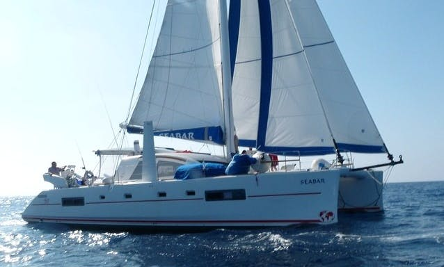 Charter a Stunning 14 People Sailing Catamaran in Lisbon, Portugal