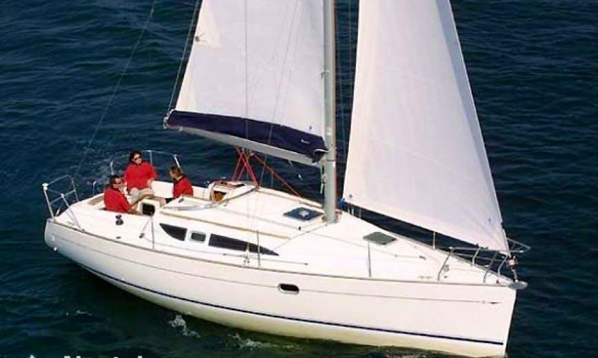 Charter 32' Jeanneau Sun Odyssey Cruising Monohull in Santo Stefano al mare, Italy