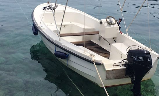 Rent A Tohatsu Powered Boat For 5 Person In Valun, Croatia