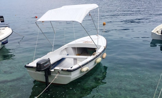 Rent 5 Person Tohatsu Powered Boat  In Valun, Croatia