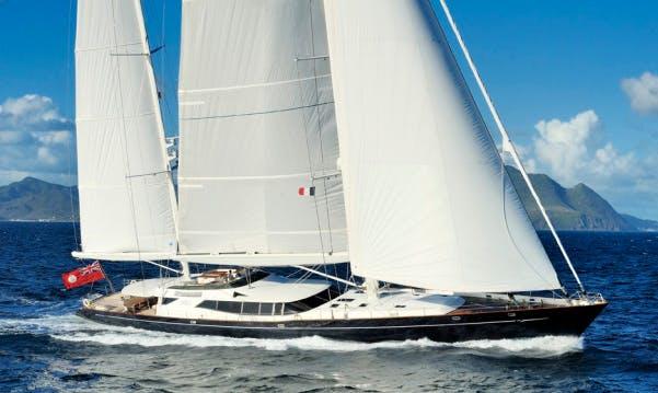 Charter 174' Drumbeat Sailing Mega Yacht In Napoli, Italy