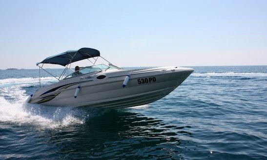Rent 26' Sea Ray Bowrider In Poreč, Croatia