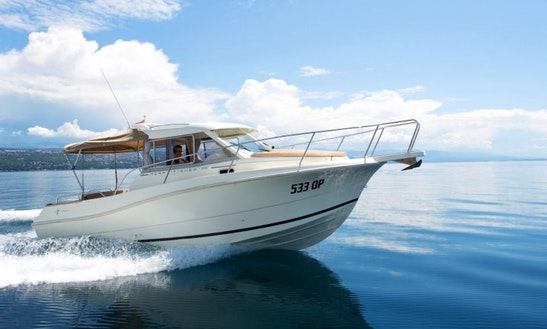 Charter 25' Merry Fisher Cuddy Cabin In Opatija, Croatia